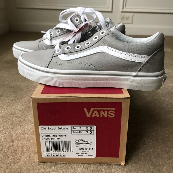 89e44c6c9667 Vans Canvas Old Skool - Drizzle True White
